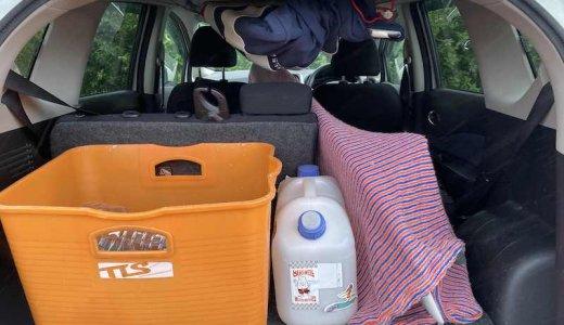コンパクトカーでもサーフボードは余裕で積めます【日産ノート・ホンダフィット】