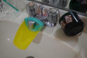 洗面所の水垢が気になる