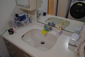 掃除後の洗面所