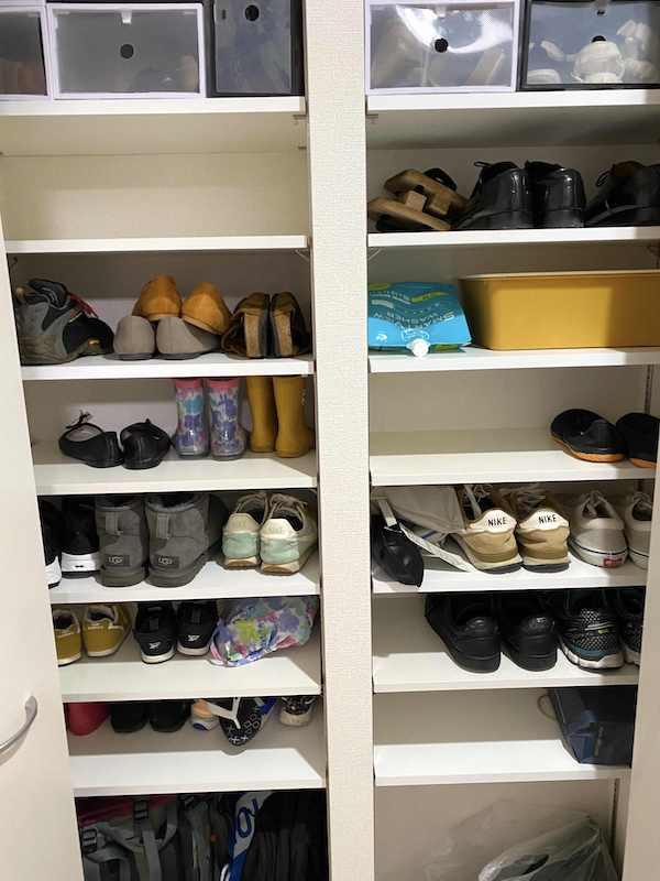 完成した靴棚