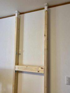テレビ棚仮組み