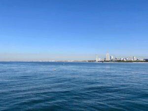 検見川浜突堤からの風景
