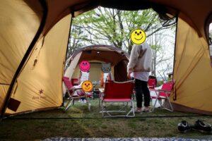 テントに集合